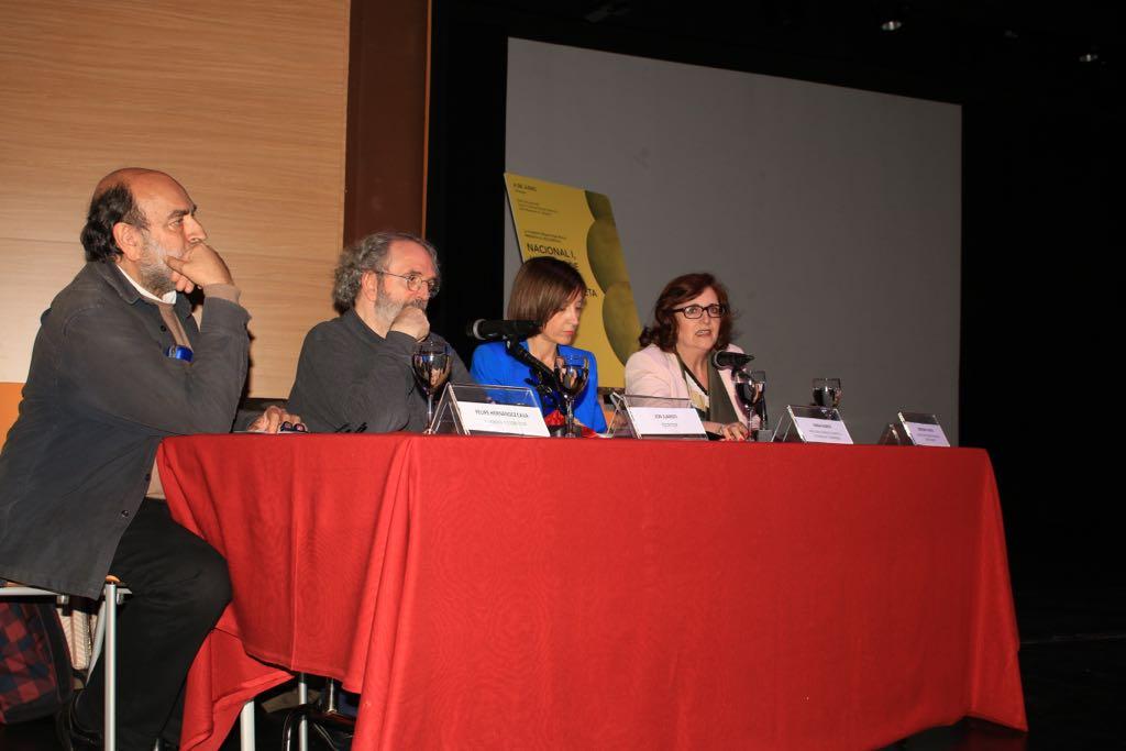 Felipe Hernández Cava, Jon Juaristi, Sonia Ramos y Cristina Cuesta durante el evento.