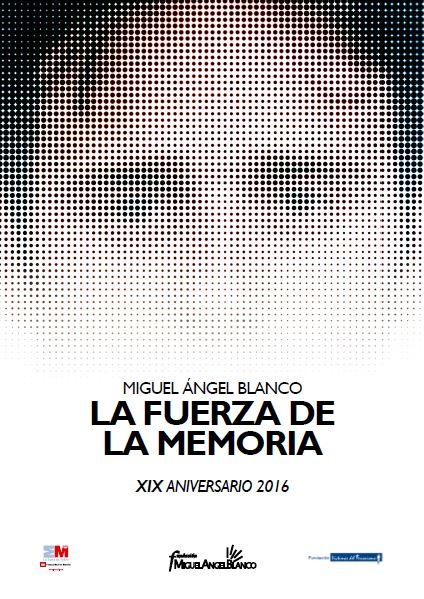 Cartel XIX Aniversario Miguel Angel Blanco