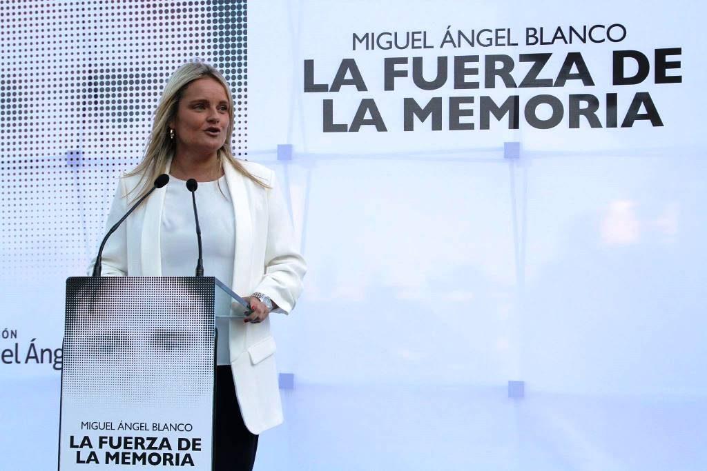 Marimar Blanco duante el acto