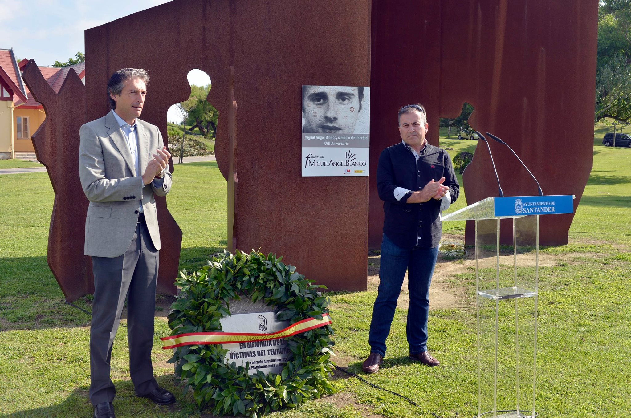 Acto homenaje a Miguel Ángel Blanco en el XVII Aniversario en Santander.