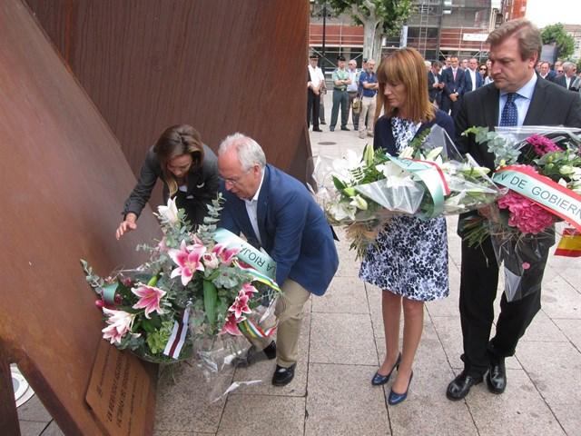 Momento de la ofrenda floral