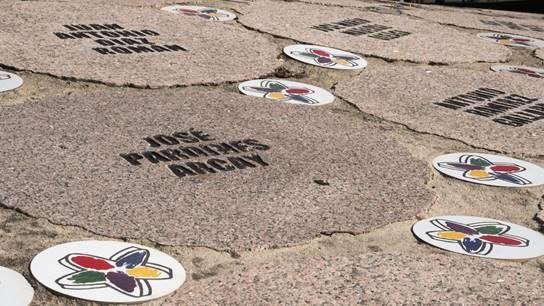 Monumento por las víctimas del terrorismo en Vitoria.