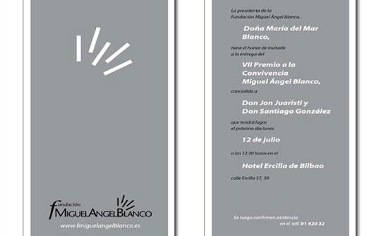 Imagen del VII Premio a la Convivencia Miguel Ángel Blanco