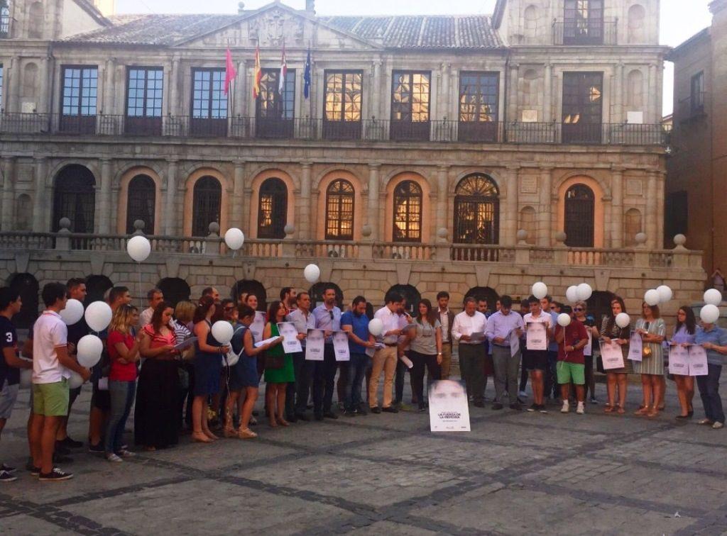 Jóvenes de NN.GG de Toledo durante el acto